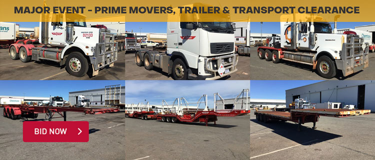 Major Event - Prime Movers, Trailer & Transport Clearance