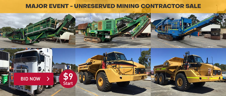 Major Event - Unreserved Mining Contractor Sale