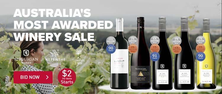 Australia's Most Awarded Winery Sale