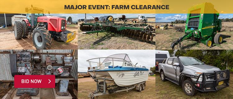 Major Event: Farm Clearance Sale