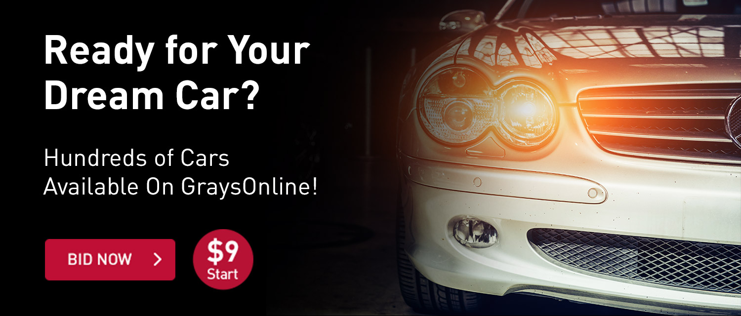 Ready for your dream car? Hundreds of cars available at GraysOnline