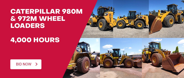Caterpillar 980M & 972M Wheel Loaders - 4,000 Hours