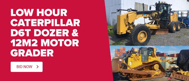 Caterpillar D6T Dozer & Caterpillar 12M2 Motor Grader