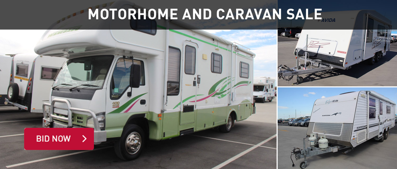 Motorhome and caravan sale