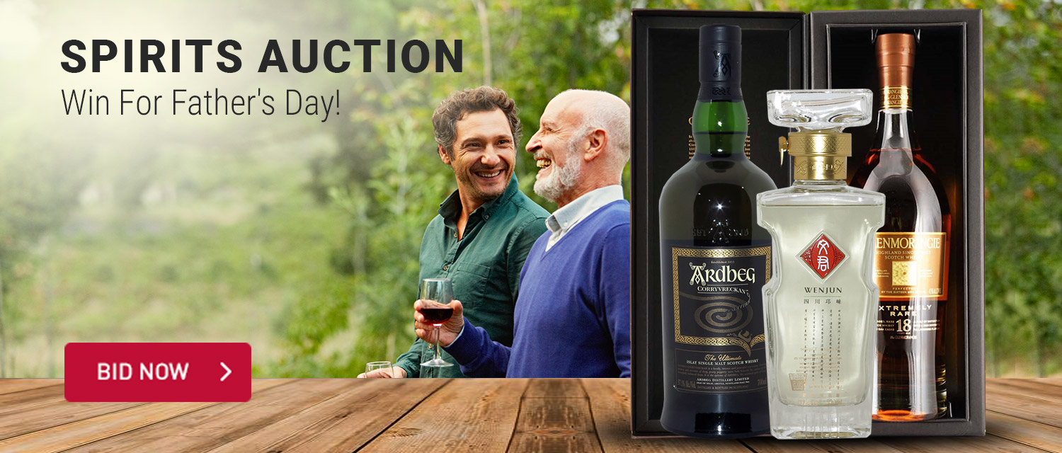 Spirits Auction - Win For Father's Day