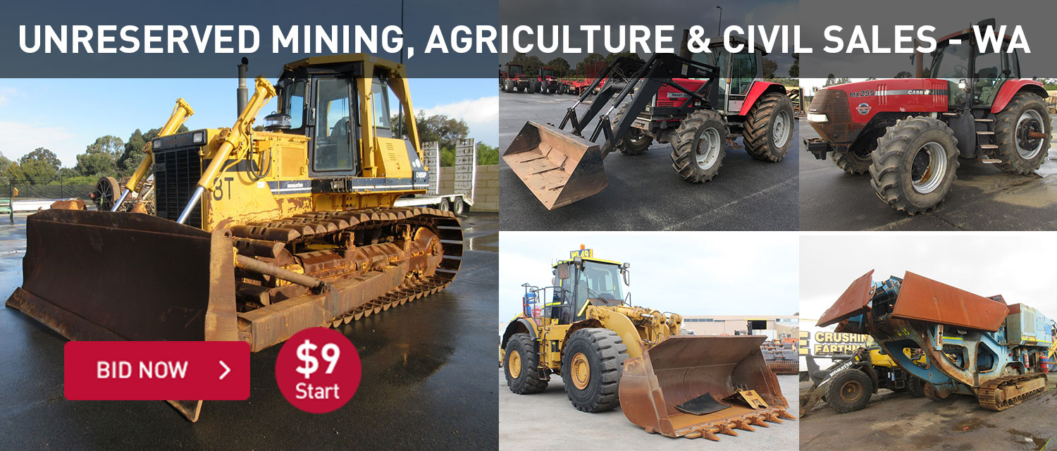 Unreserved Mining, Agriculture & Civil Sales - WA