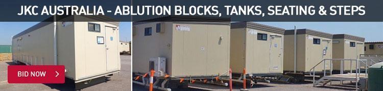JKC Australia - Ablution blocks, tanks, seating and steps