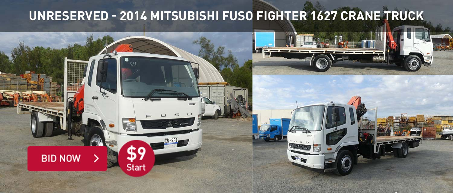 Unreserved - 2014 Mitsubishi Fuso Fighter 1627 Crane Truck