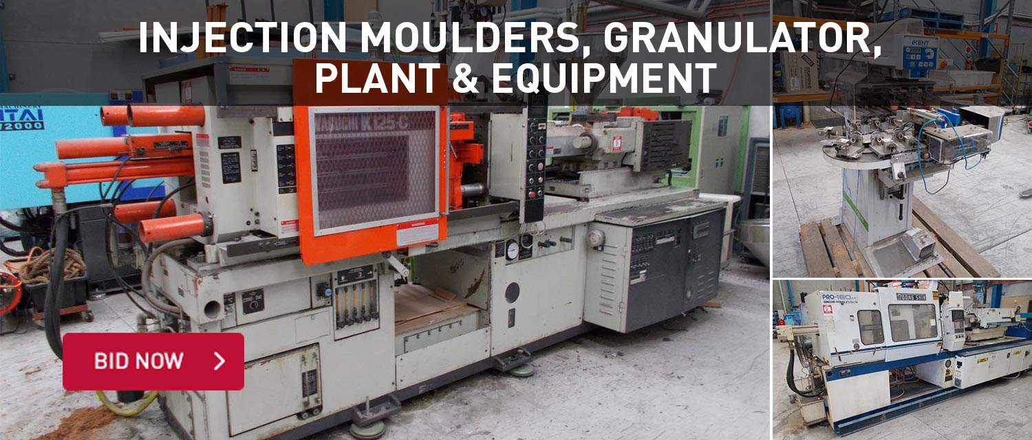 Injection Moulders, granulator, plant and equipment