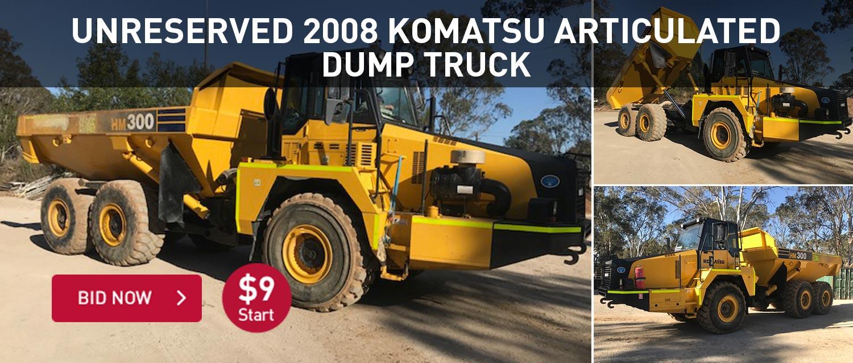 Unreserved 2008 Komatsu Articulation dump truck
