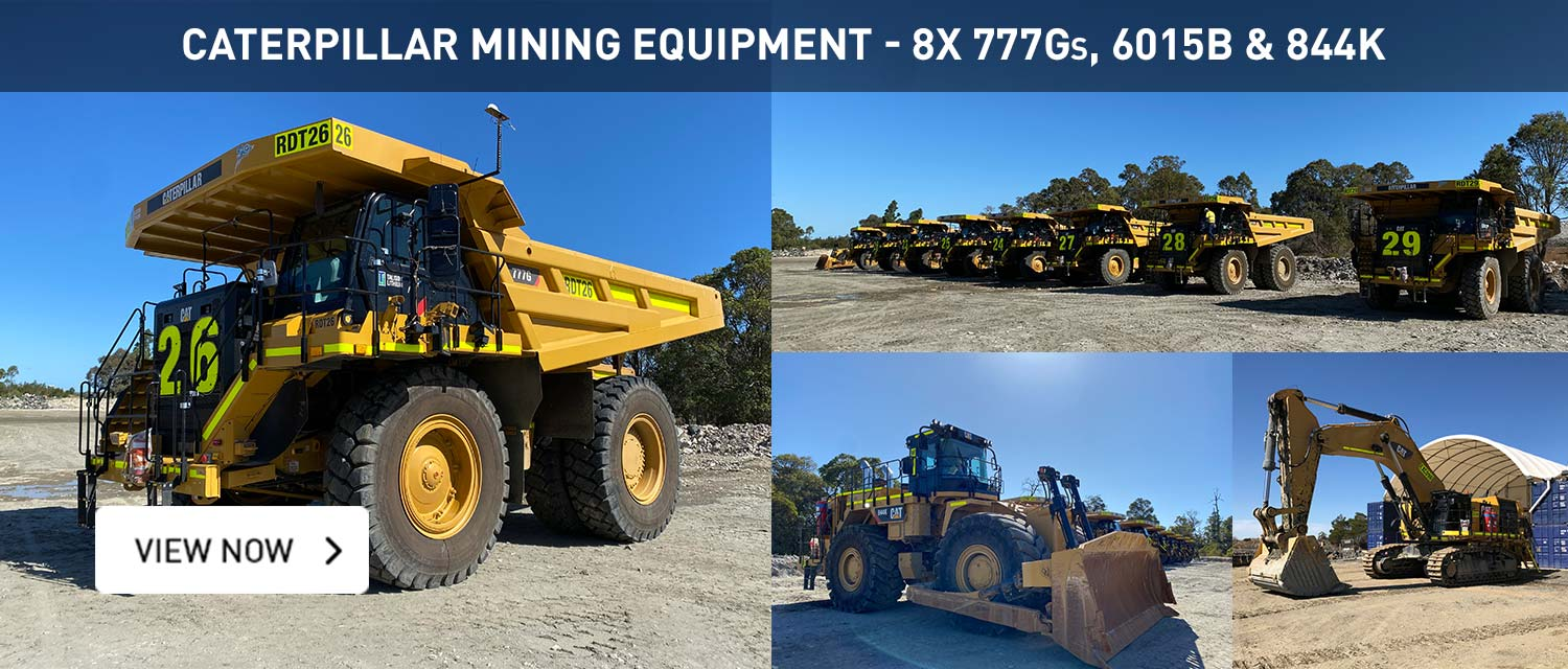 2019 Cat 777G Dump Trucks, 6015B Excavator & 844k Loader