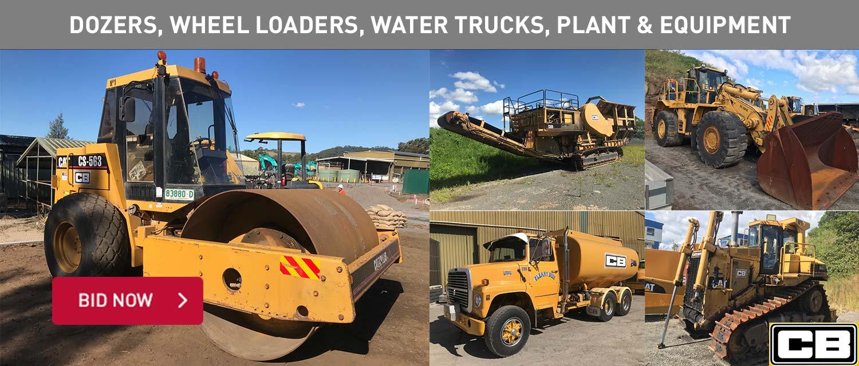 Dozers, Wheel Loaders, Water Trucks, Plant & Equipment