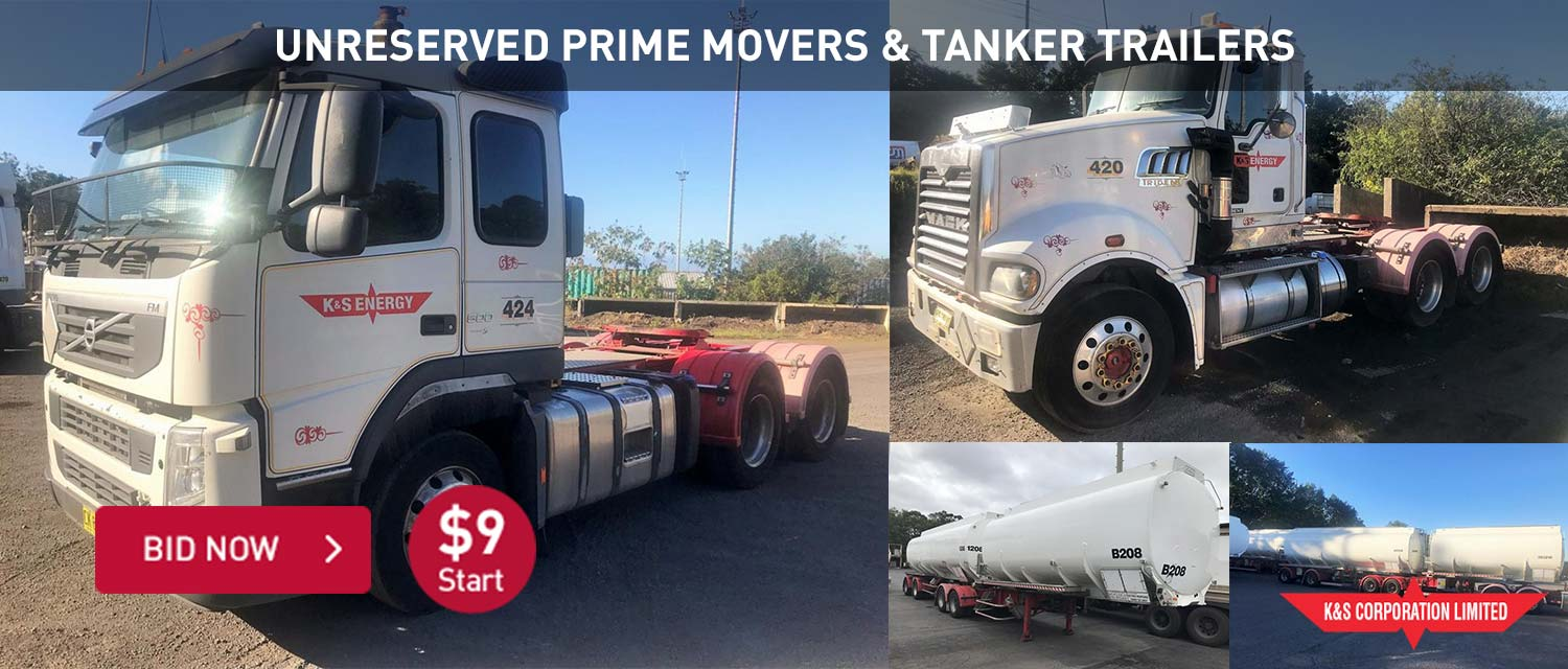 UNRESERVED PRIME MOVERS & TANKER TRAILERS
