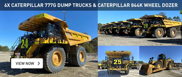 Caterpillar Mining Equipment - 8x 777Gs, 6015B & 844K