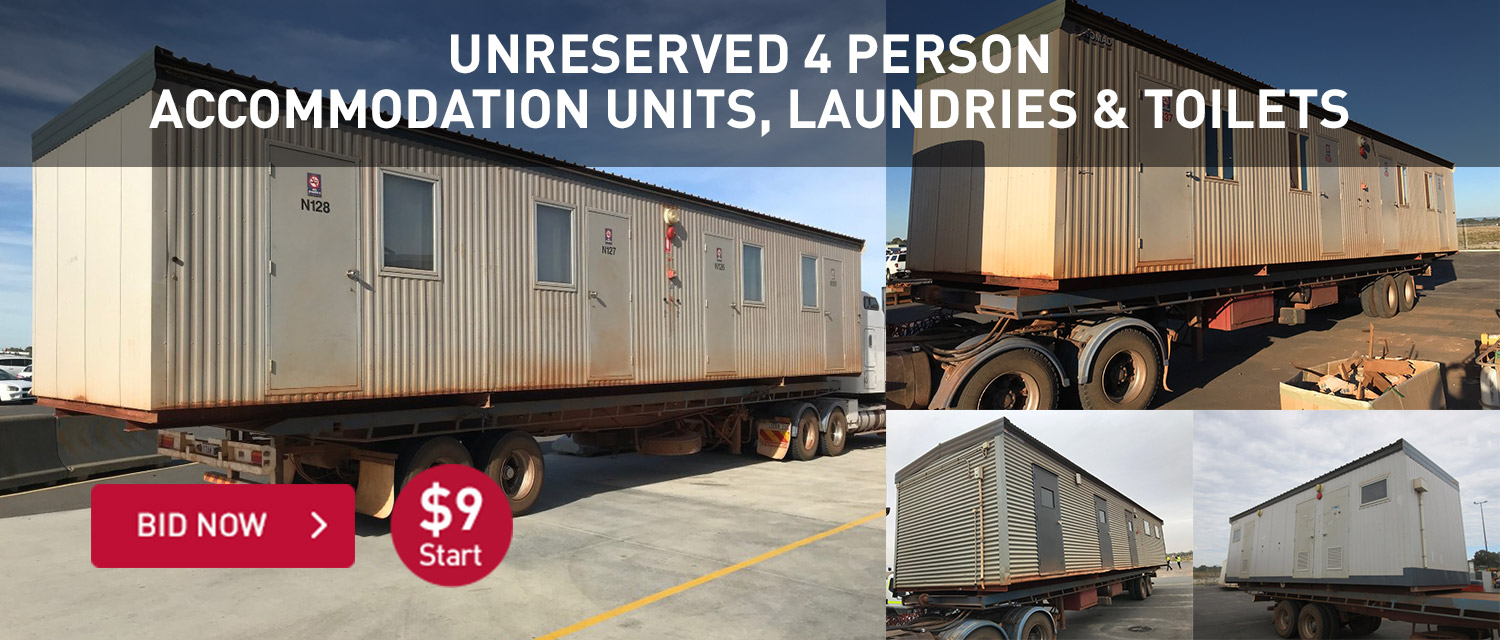 Unreserved 4 Person Accommodation Units, Laundrys & Toilets