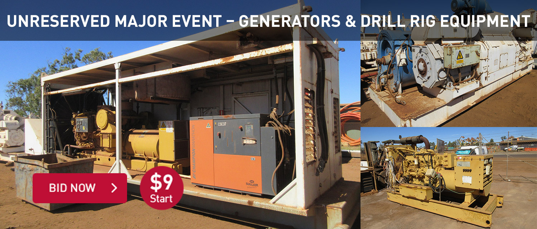 Unreserved Major Event Generators & Drill Rig Equipment