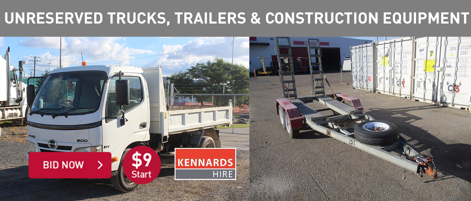 Unreserved Trucks, trailers and construction equipment