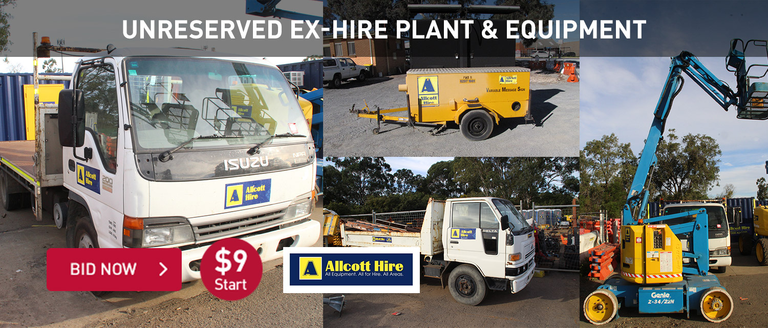Unreserved Ex-Hire Plant & Equipment