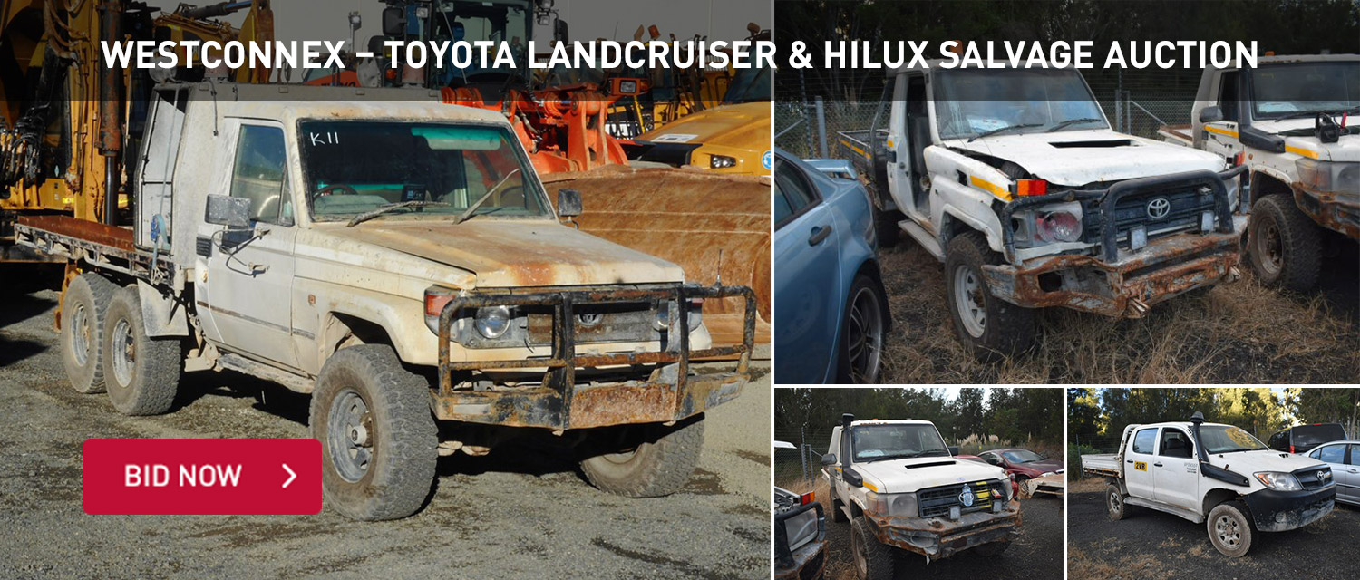 WestConnex %u2013 Toyota Landcruiser & Hilux Salvage Auction