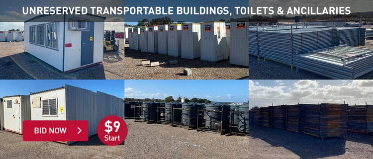 Unreserved Transportable Buildings, Toilets & Ancillaries
