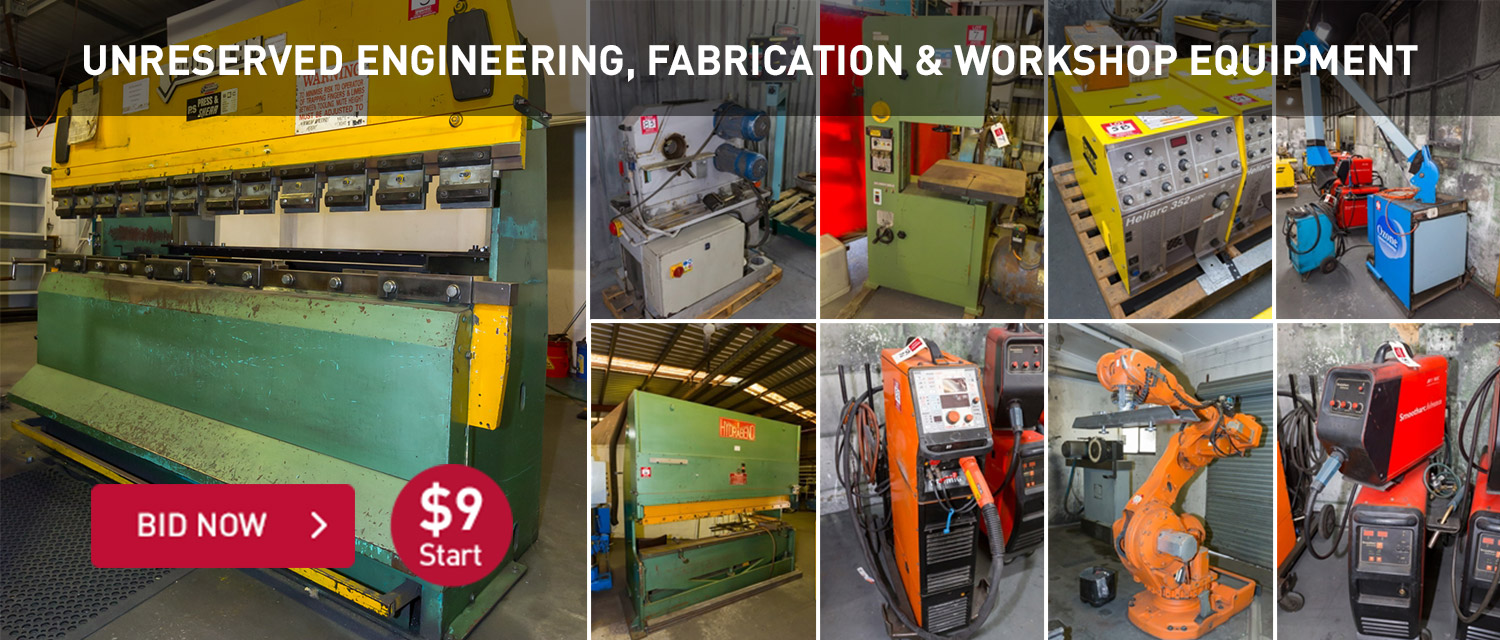 Unreserved Major Event Engineering and Manufacuting Equipment