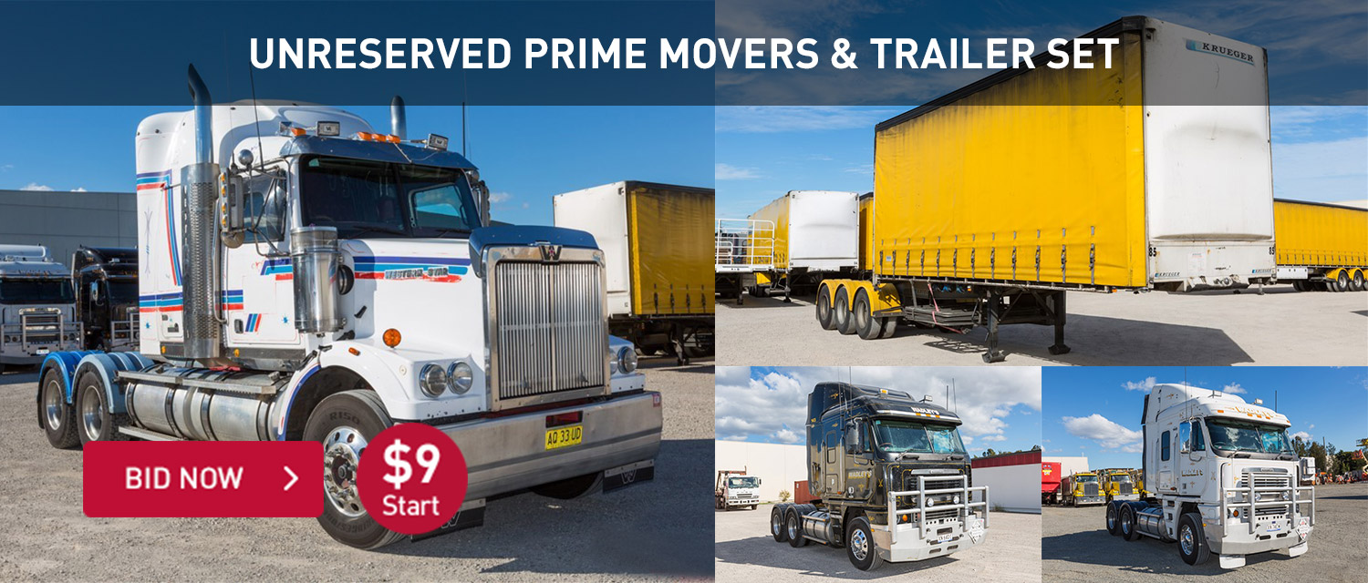 Unreserved Prime Movers & Trailers Set