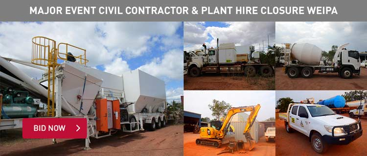 Major Event Civil Contractor & Plant Hire Closure Weipa