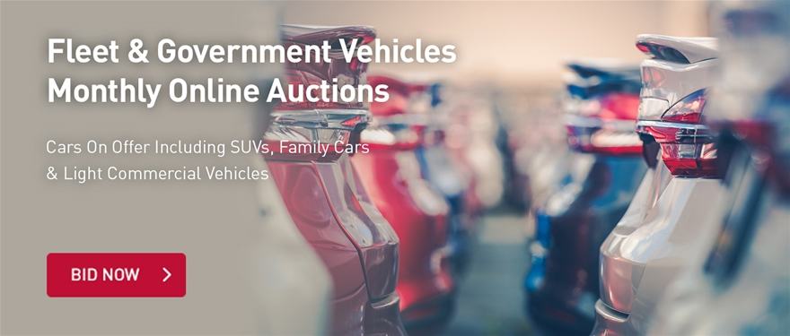 Fleet & Goverment Vehicles Monthly Online Auctions