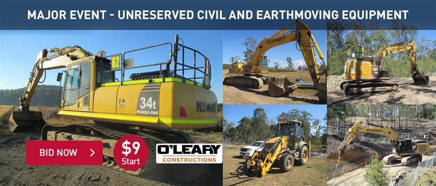 Major event unreserved civil and earthmoving equipment