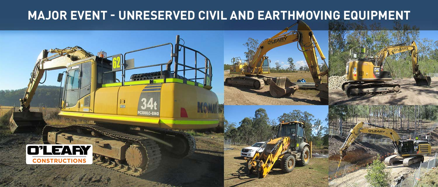 Major Event | Unresserved Civil and Earthmoving Equipment