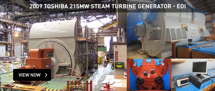 2009 Toshiba 215MW Steam Turbine Generator - EOI