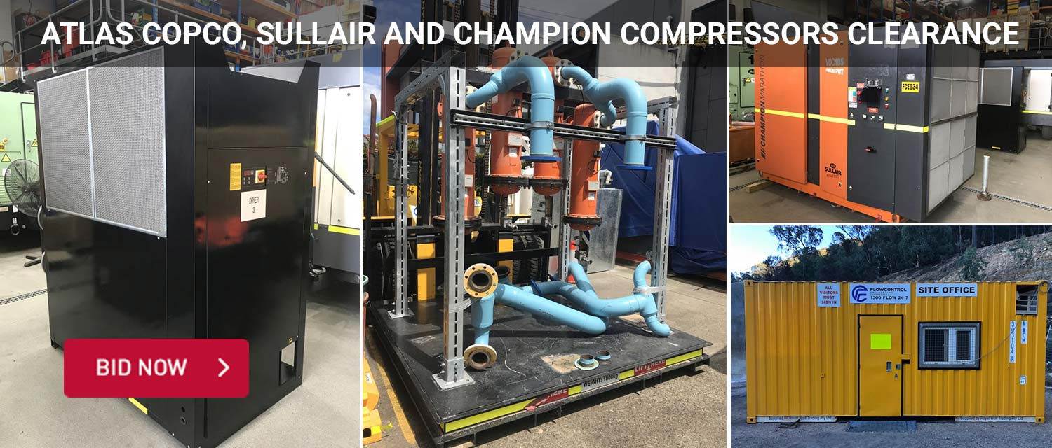 Atlas Copco, Sullair and Champion Compressors Clearance