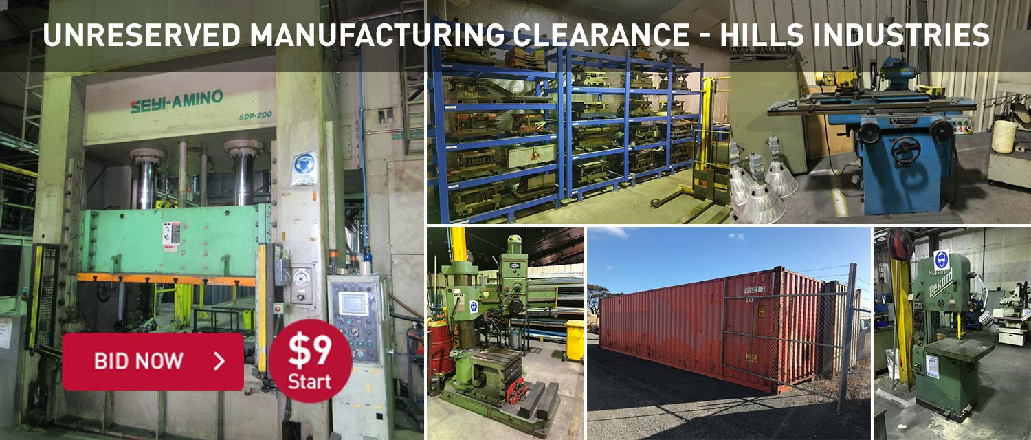 Unreserved Manufacturing Clearance - Hills Industries
