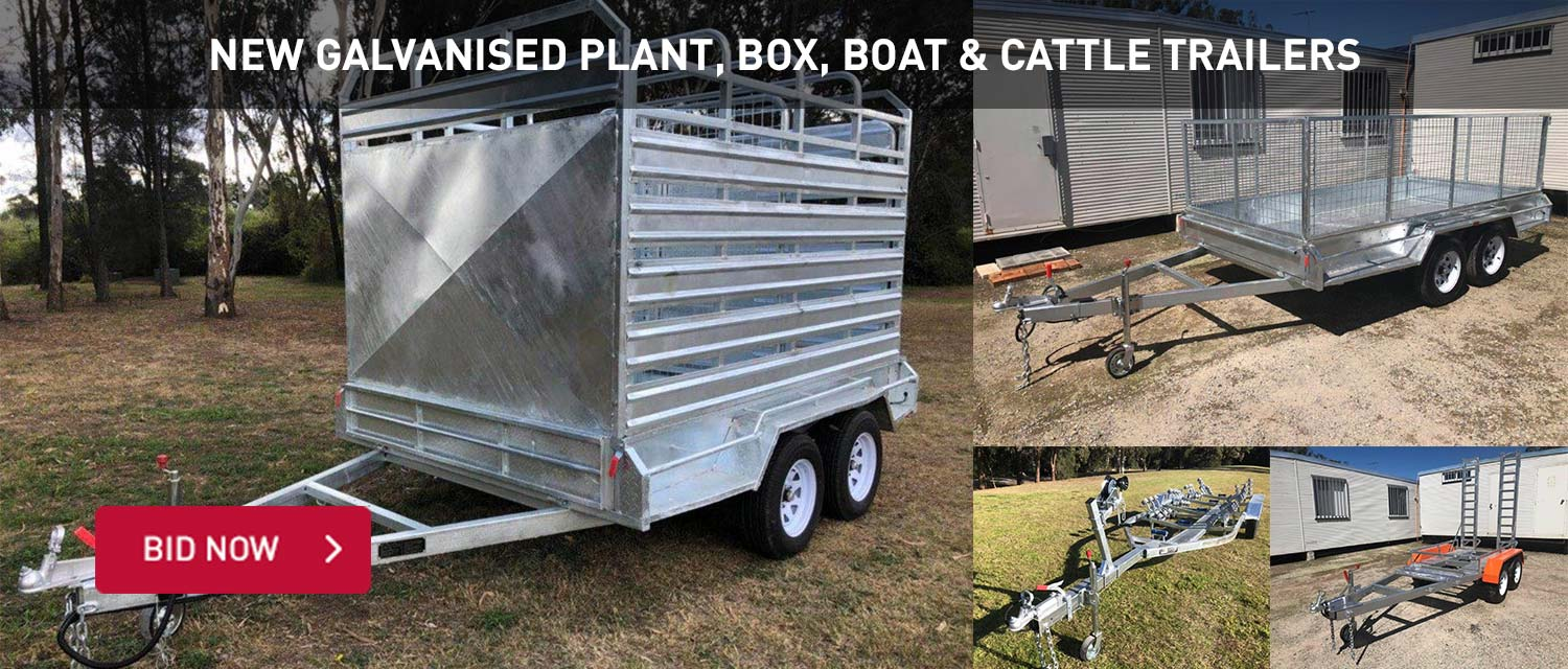 New Galvanished plant, box, baot and cattle trailers