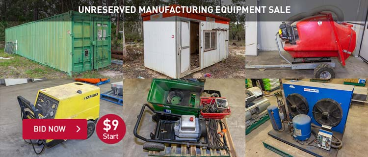Unreserved Manufacturing Equipment Sale