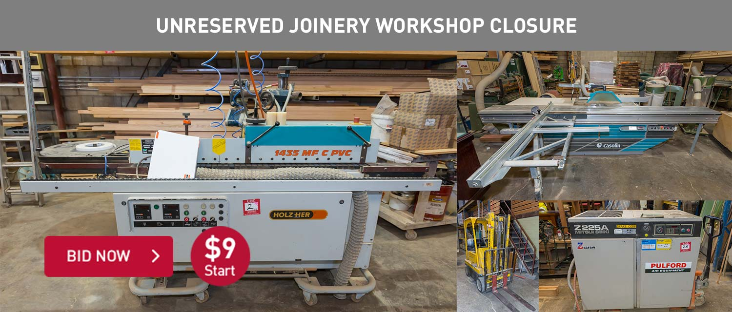 Unreserved Joinery Workshop Closure