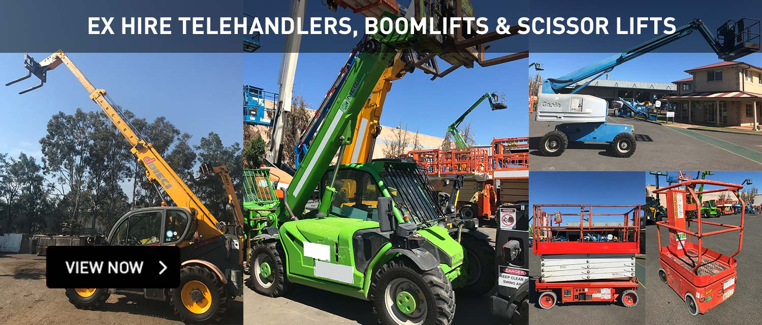 Ex Hire Telehandlers, Boomlifts and Scissor Lifts