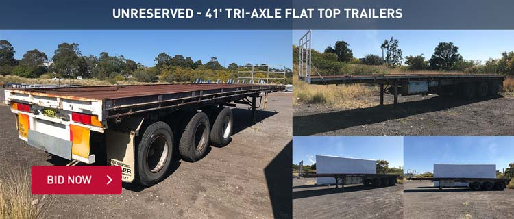Unreserved - 41' Tri-Axle Flat Top Trailers