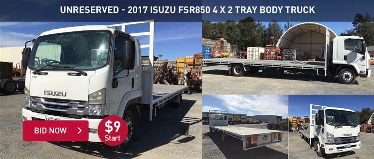 Unreserved - 2017 Isuzu FSR850 4 x 2 Tray Body Truck