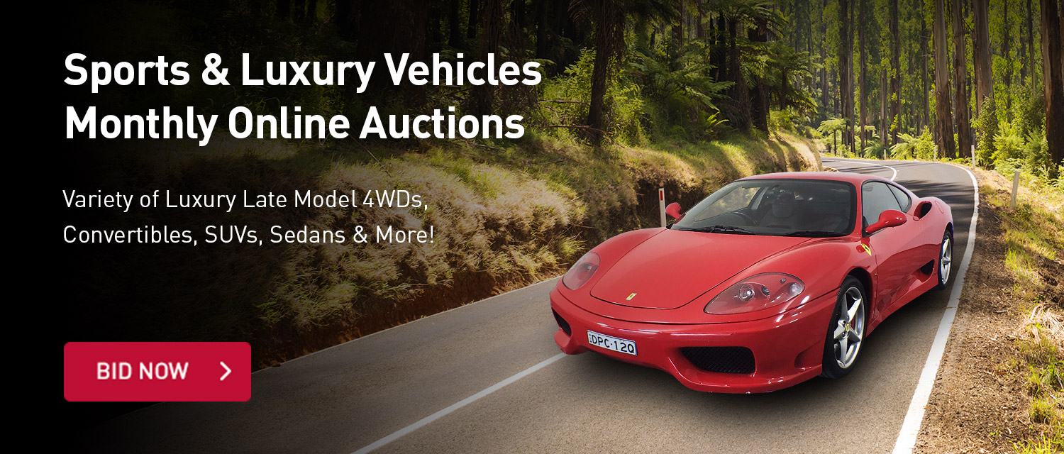 Sports and Luxury Vehicles Monthly Online Auctions