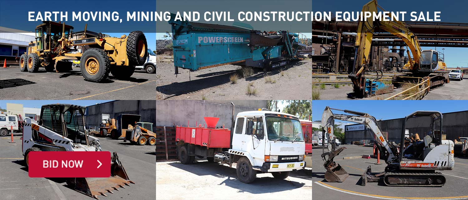 Earth moving, mining and civil construction equipment sale