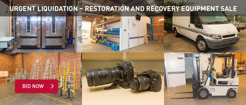 Urgent Liquidation | Restoration and Recovery Equipment Sale