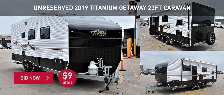UNRESERVED 2019 Titanium Getaway 23ft Caravan