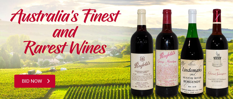 Austrlali's Finest and Rarest Wines