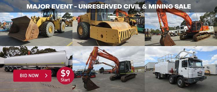Major Event - Unreserved Civil & Mining Sale