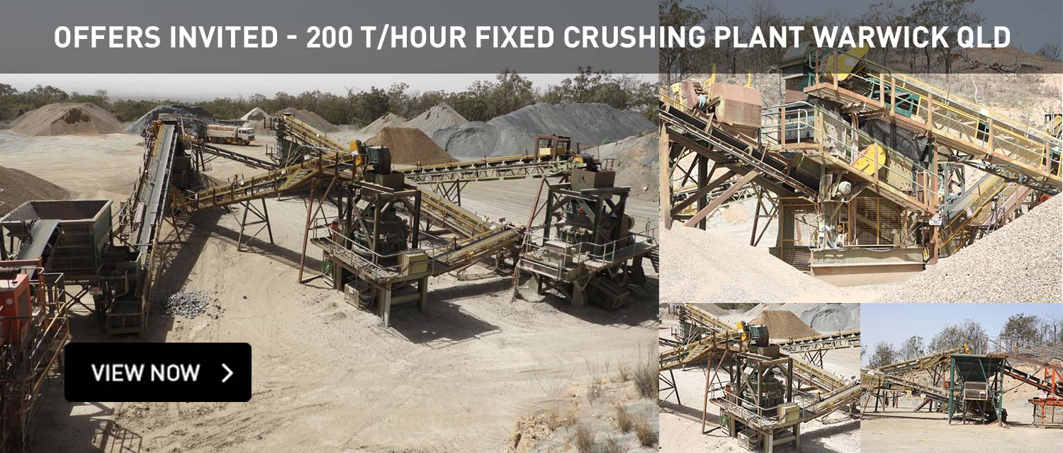 Offeres Invited - 200 T/Hour Fixed Crushing Plant Warwick QLD