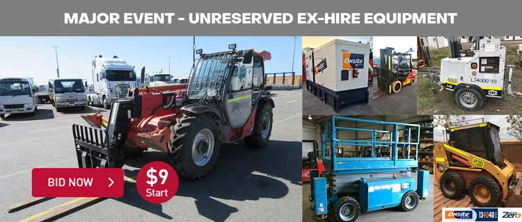 Major Event - Unreserved Ex-Hire Equipment