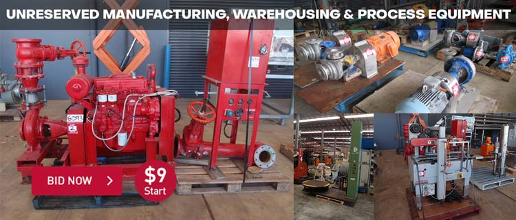 Unreserved Manufacturing, Warehousing & Process Equipment