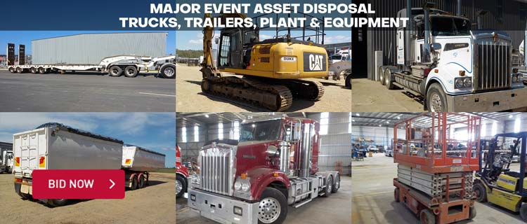Major Event Asset Disposal %u2013 Trucks, Trailers, Plant & Equipment