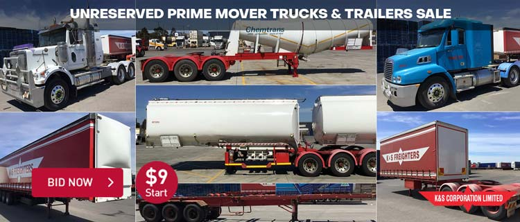 Unreserved Prime Mover Trucks & Trailers Sale